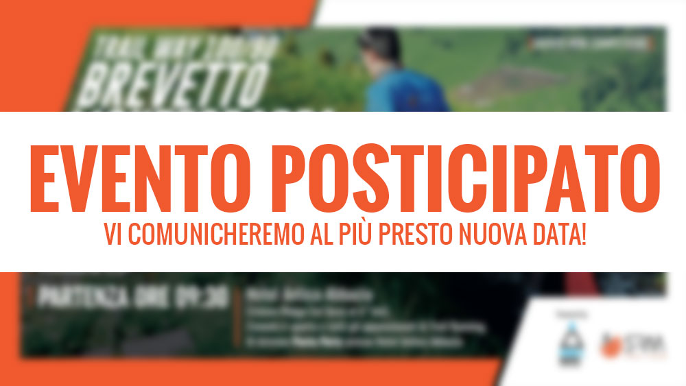 EVENTO POSTICIPATO trail brevetto monte grappa 100/90