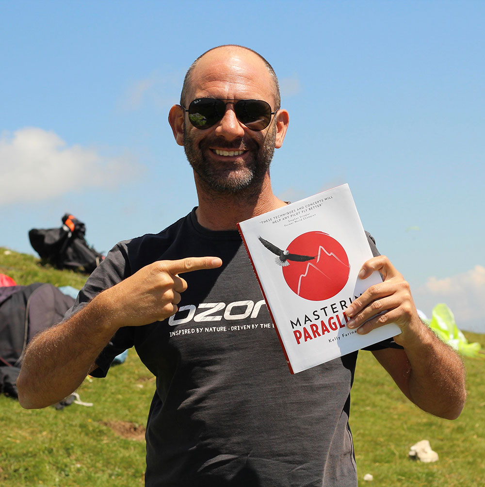 kelly farina with mastering paragliding book