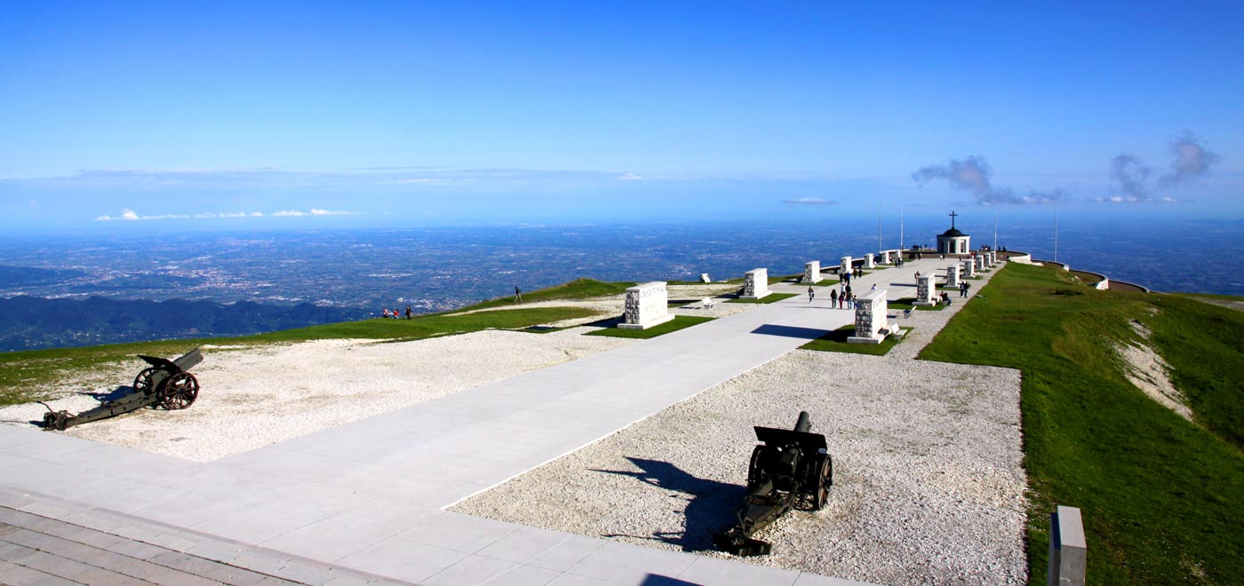Beautiful view from the Military Ossuary located on Monte Grappa