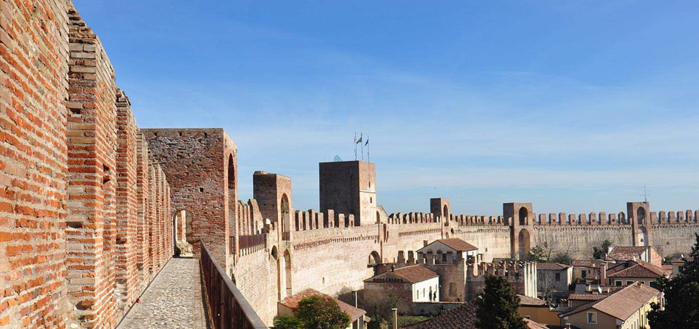 The Medieval city of Cittadella and its famous wall, in the province of Padua
