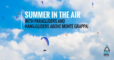 Summer in the air with paragliders and hang-gliders above Monte Grappa!