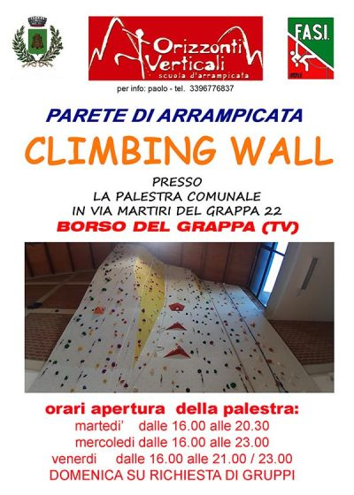Parete di Arrampicata Indoor a Borso del Grappa