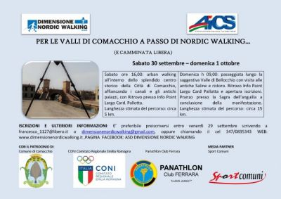 Weekend di Nordic Walking per le Valli di Comacchio